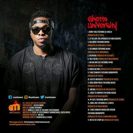 ALBUM TRACKLIST | RunTown – Ghetto University