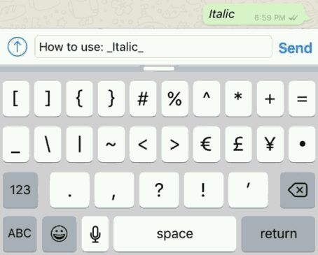 How to use bold, italics and strikethrough text on WhatsApp