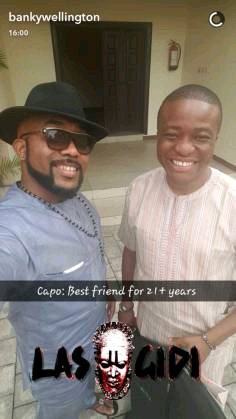 Banky W celebrates more than 21 years of friendship with his BFF, Captain Demuren