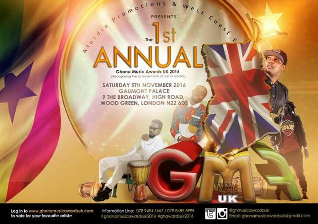 Ghana Music Awards UK 2016 Full Nominations List