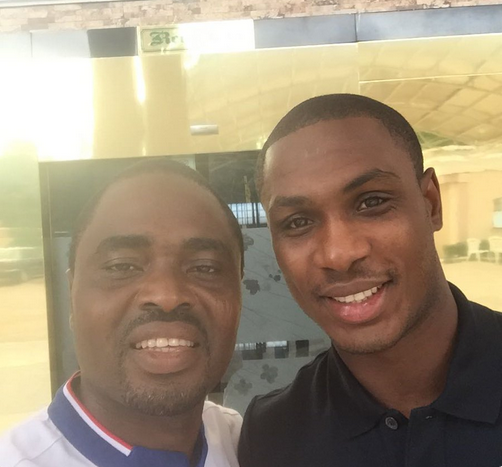 PHOTO: Super Eagles' Odion Ighalo weeps profusely during burial of his father