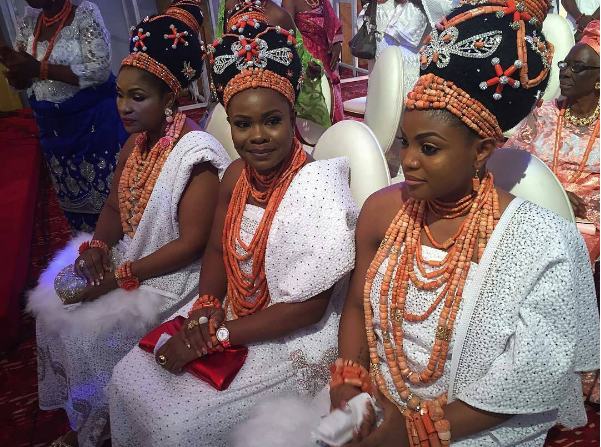 Checkout the three wives of the new Oba of Benin(Photos)