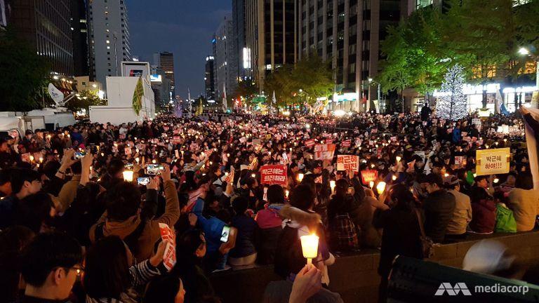 Mass protest in Seoul against South Korean President