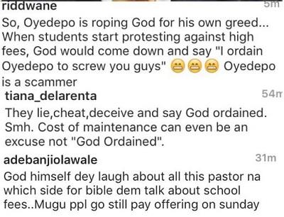 Nigerians Blast Bishop Oyedepo for Defending Covenant University School Fees (See details)
