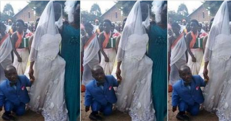 Checkout This Photo Of A Bride And Her Physically Challenged Groom That Has Gone Viral