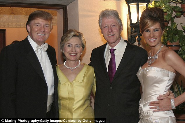 In Photos: The Clintons at Donald Trump & Melania's wedding in 2005