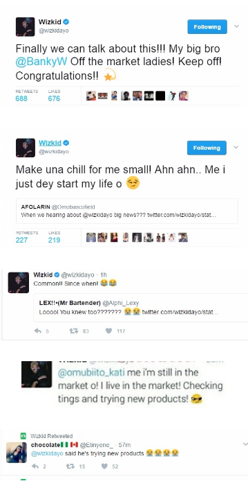 Wizkid Replies Fan Who Asked When He Would Be Getting Married