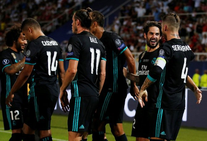 DOWNLOAD VIDEO: Real Madrid 2-1 Manchester United – UEFA Super Cup Highlights