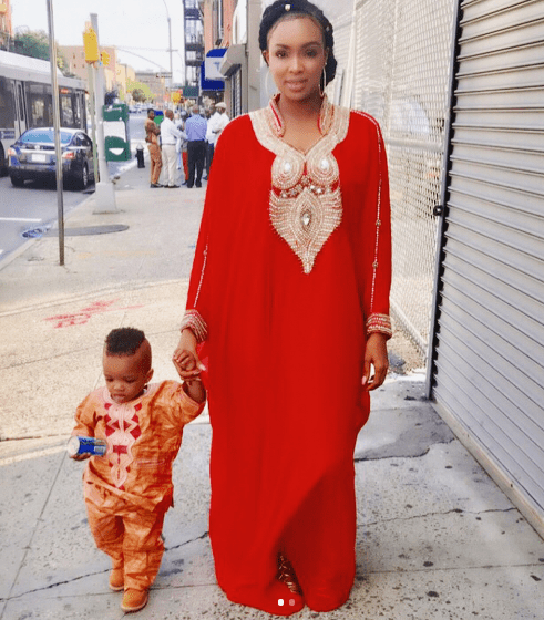 Beautiful new photos of Wizkid's 2nd baby mama and their son