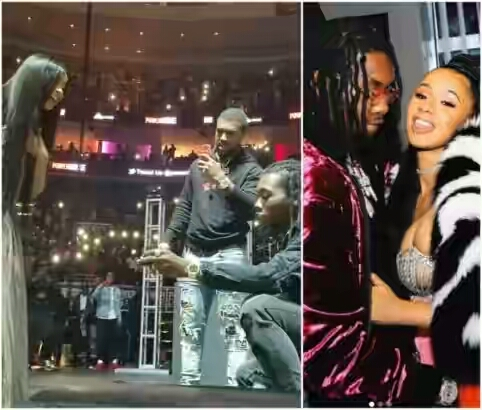 Migos' Offset proposes to CardiB at PowerhousePhilly – VIDEO