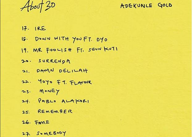 Download Adekunle Gold About 30 Full Album All Songs Tracks Zip Illuminaija