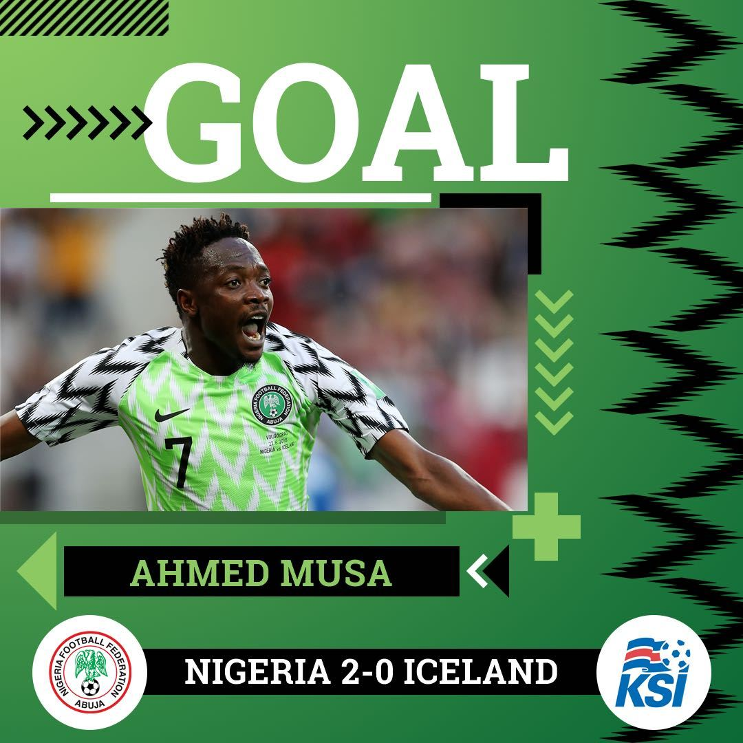 DOWNLOAD VIDEO: Nigeria vs Iceland 2-0 – Highlights & Goals