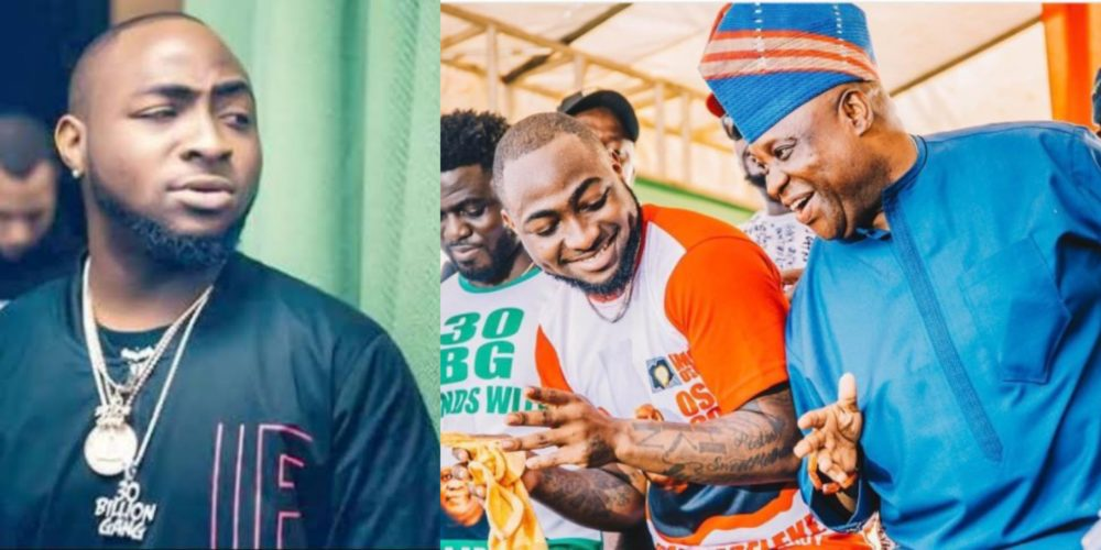 Watch moment Davido declared his uncle, Senator Adeleke 'Governor' Of Osun state at felabration (Video)