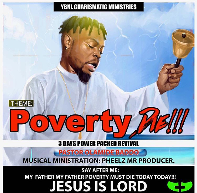 "Rapper, Olamide Opens His Own Church ""YBNL Charismatic"