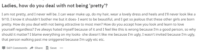 Woman asks other women how they deal with not being attractive and a man gave the perfect response