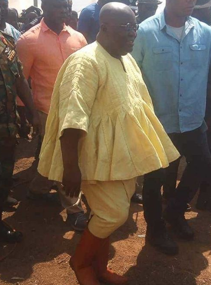 See the outfit Ghanaian President, Nana Akufo-Addo wore to an event that has got everyone talking (photo)