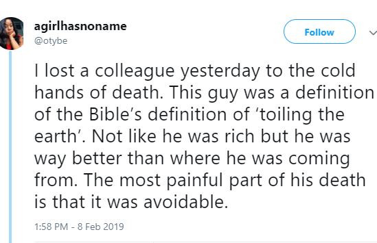 Lady shares touching story of how her colleague died while being rushed to the hospital because of Apapa traffic in Lagos