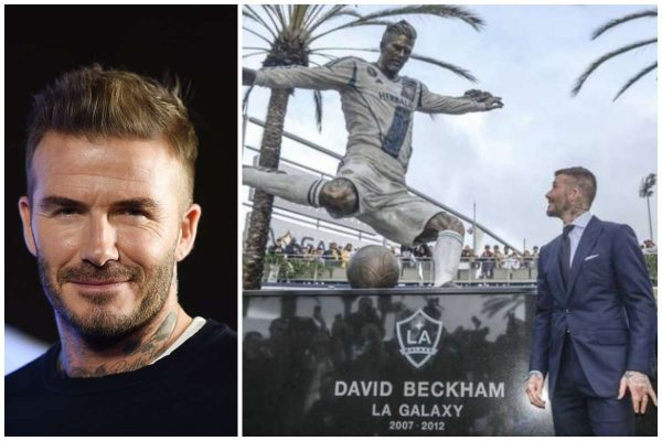 David Beckham gets a statue outside LA Galaxy's stadium