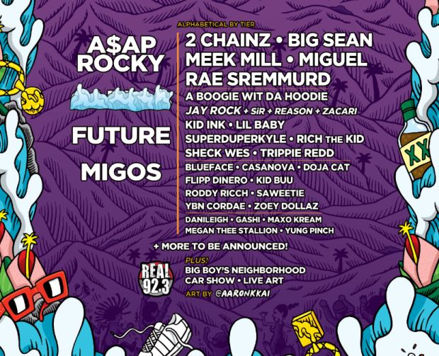 Asap Rocky, Future & Migos To Headline 2019 Real Street Festival