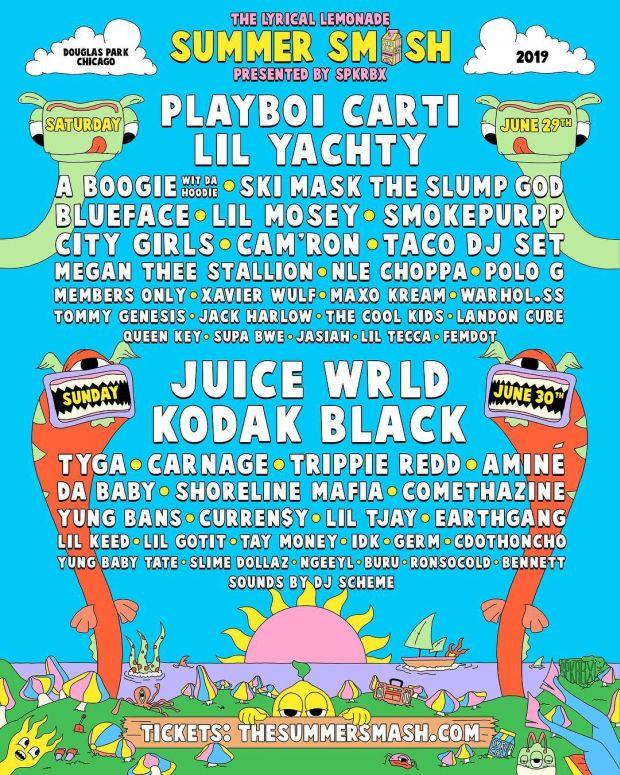 Lyrical Lemonade Announces 2019 Summer Smash Lineup