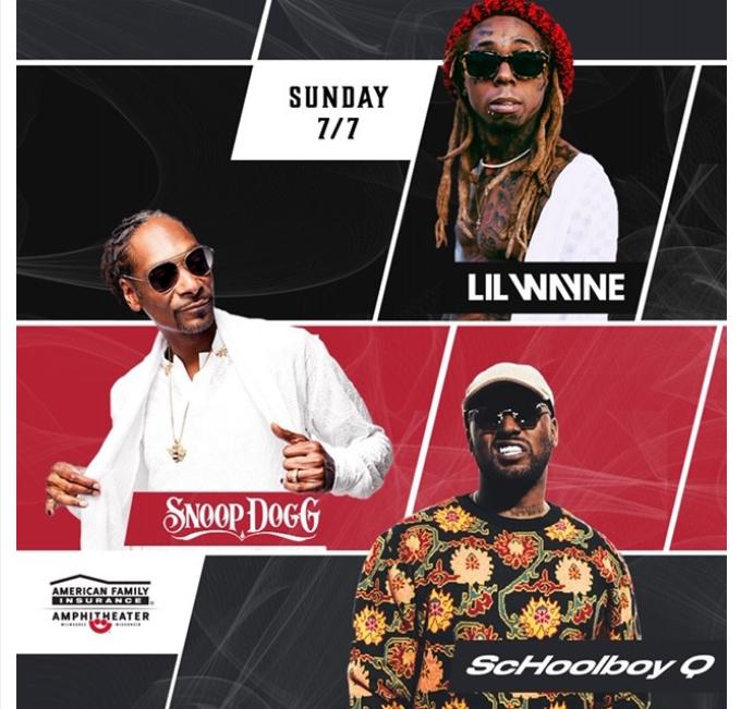 Lil Wayne, Snoop Dogg & Schoolboy Q To Headline Summerfest 2019