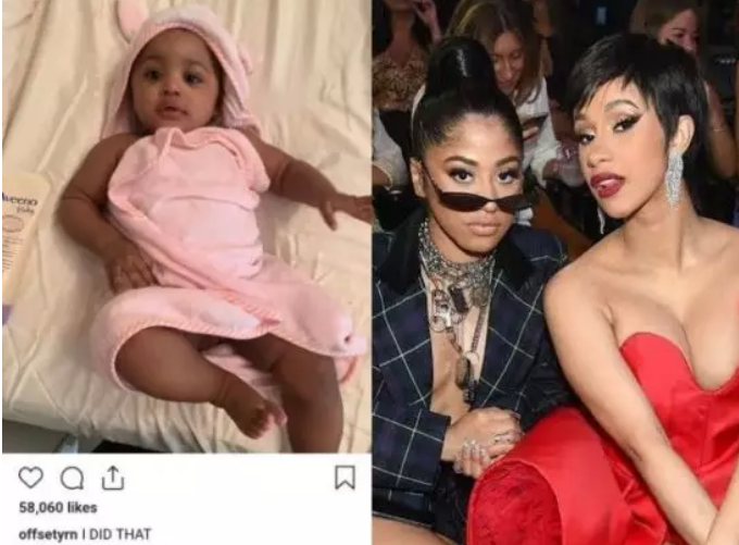 Cardi B gushes over resemblance between her daughter and sister