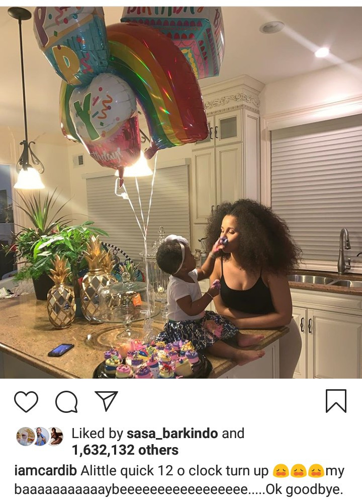 Cardi B And Offset Celebrate Daughter Kulture As She Turns 1