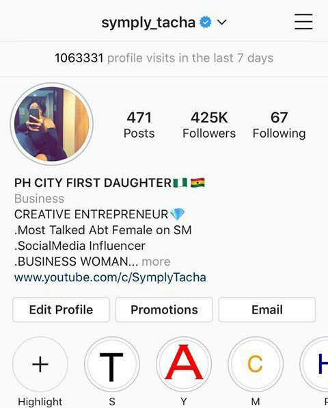 #BBNaija: Tacha Becomes First Housemate To Be Verified On Instagram