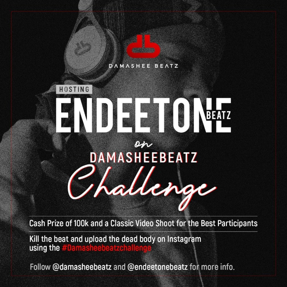 Damasheetbeatz Free Beat Challenge + Win 100k (Courtesy Endeetone Beatz)