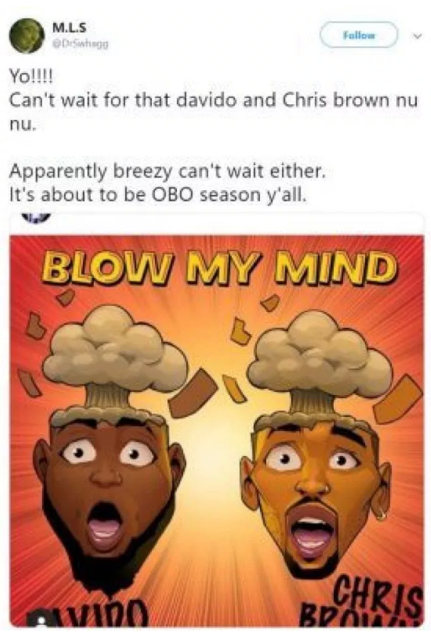 "Davido & Chris Brown set To Collaborate On A New Single; ""Blow My Mind"""