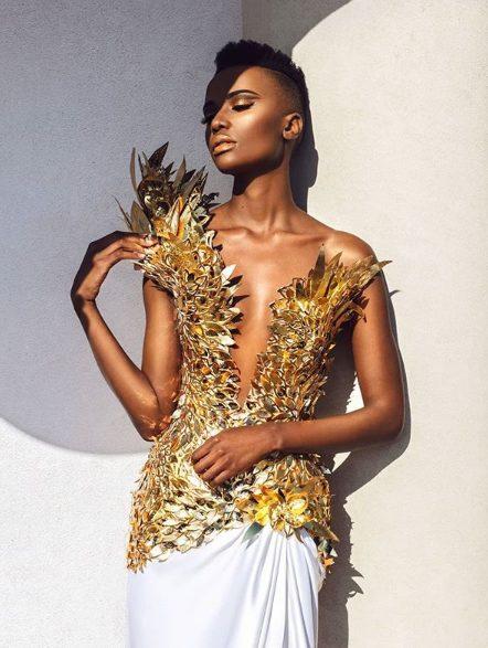 Between Zozibini Tunzi on same dress as Bonang Matheba – Who slayed it better ? Photos