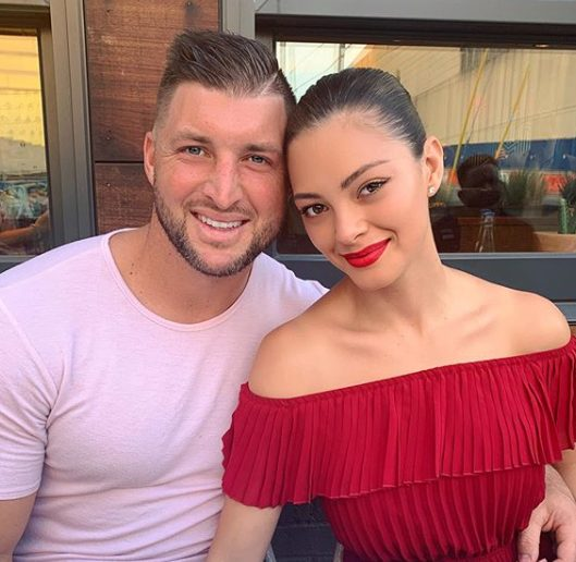 Tim Tebow and Demi-Leigh's first dance lesson ahead of their wedding | WATCH