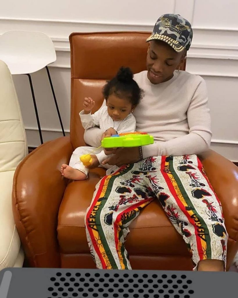 Adorable Photo Of Tekno And His Daughter, Skye