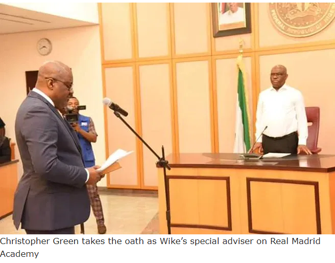 Photo:Governor Wike appointsspecial adviser on 'Real Madrid Academy'