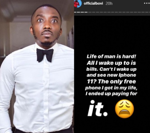 'Life of a man is hard, all I wake up to is bills' – Comedian, Bovi