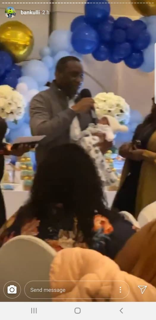 Photos from naming ceremony of Davido and Chioma's newborn son David Jnr. Ifeanyi Adeleke