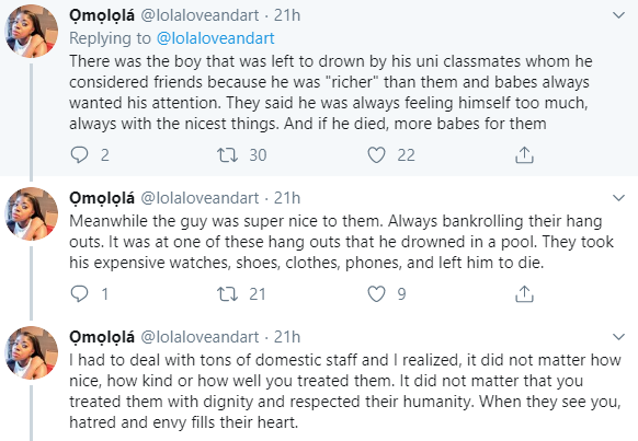 Nigerian lady says poor people in Nigeria are a terrible lot; gives her reasons