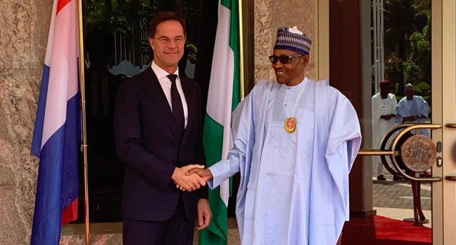 Buhari receives Prime Minister of Netherland, Mark Rutte