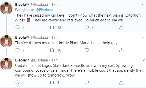 Twitter user accuses the police of setting her up so she can be arrested