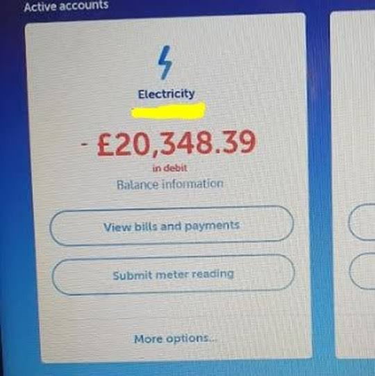 Struggling Mum unhappy with £600 electric bill gets another for £20,000 after complaining