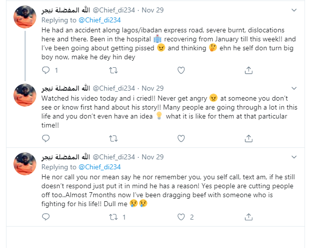 Nigerian man narrates how he's been angry with his friend not knowing he has been fighting for his life since January