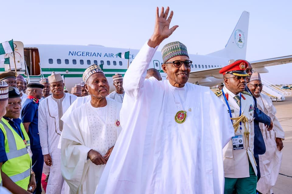 President Buhari arrives in Daura,his hometown on a4-days official visit (Photos)