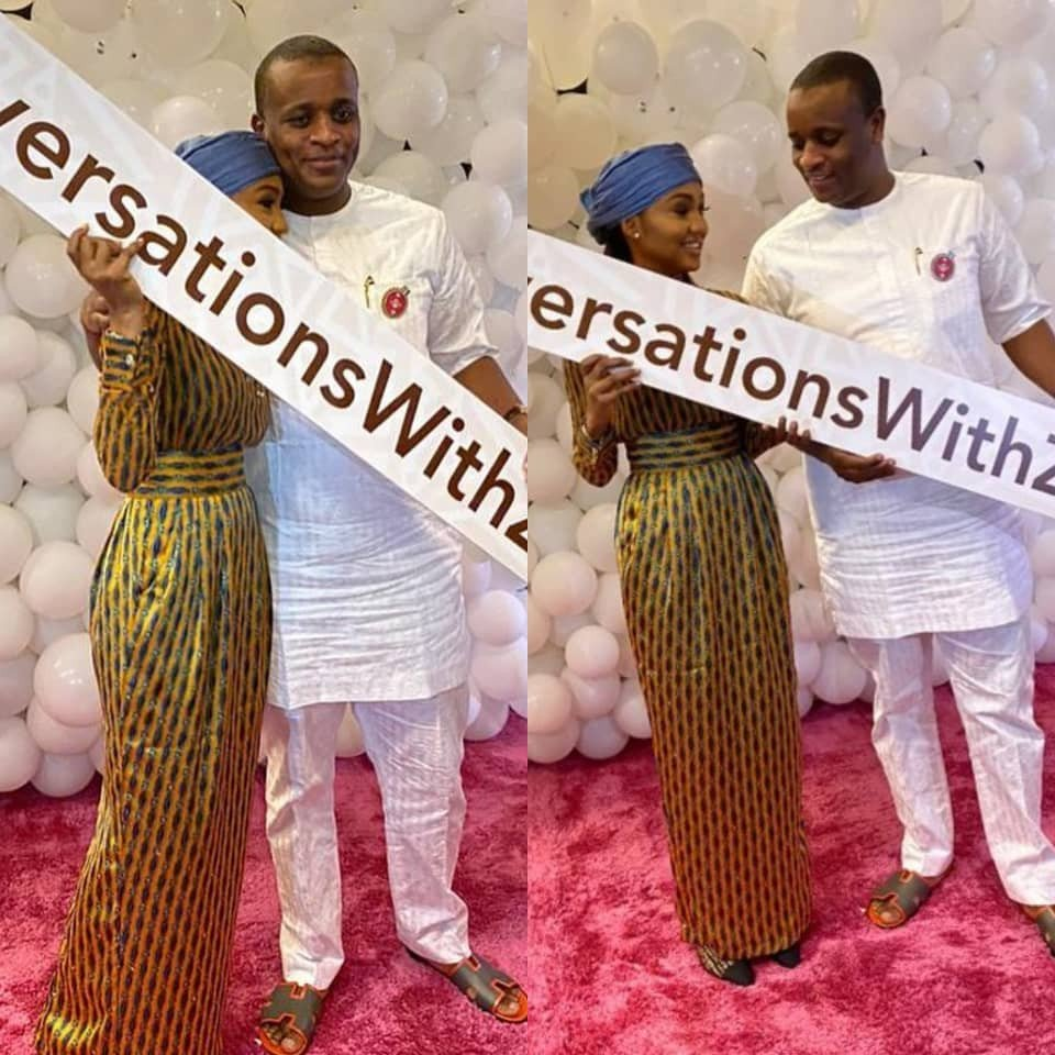 Lovely photos of Zahra Buhari and her hubby, Ahmed Indimi