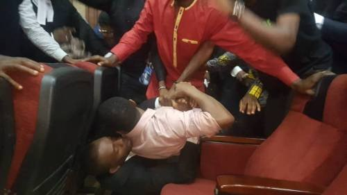 DSS allegedly tries rearresting Omoyele Sowore in court room today.. (photos)