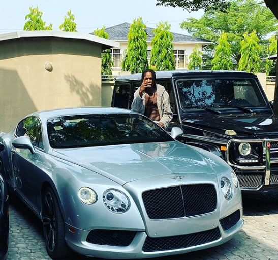 24-hours after he was accused of car theft, Naira Marley shows off his new Bentley