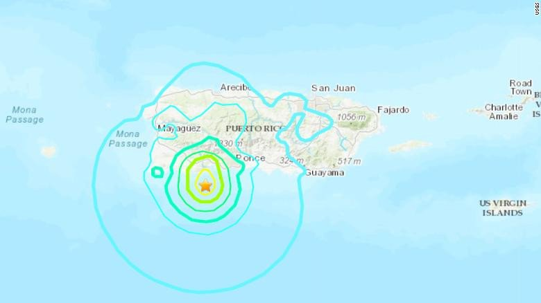 Puerto Rico hit by 5.8-Magnitude Earthquake with more tremors still expected