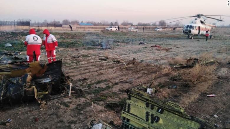 Ukrainian passenger plane carrying 176 people crashes in Iran shortly after takeoff