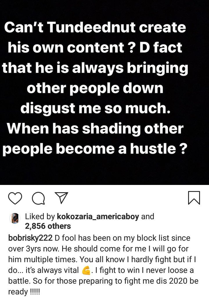Bobrisky continues to drag Tunde Ednut after Speed Darlington issued a warning to him