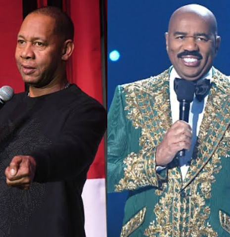 Steve Harvey responds to Mark Curry's claim that he steals his jokes