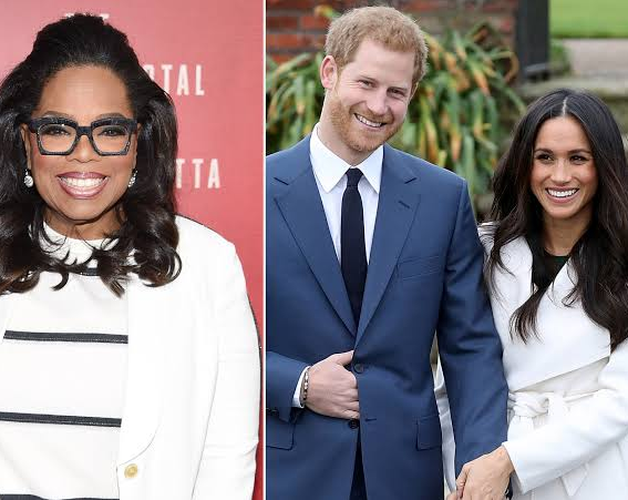 Oprah Winfrey denies advising Prince Harry and Meghan Markle to take a step back from their royal roles